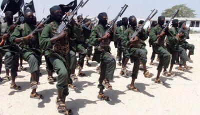 Al-Shabab fighters near Mogadishu, February 17, 2011. (AP Photo)