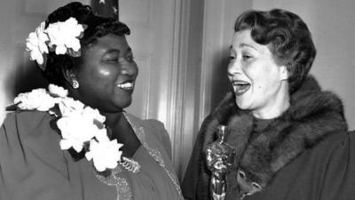 "Actress Hattie McDaniel with her Oscar from ""Gone With the Wind"" (AP Photo)"