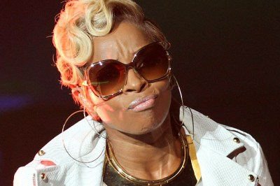 Mary J Blige is seen performing on stage at the 2014 Essence Music Festival Concert - Day 3 at Superdome on Saturday, Jul 05, 2014 in New Orleans, LA. (Donald Traill/Invision/AP)