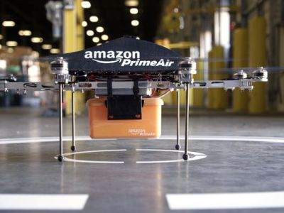 This undated image provided by Amazon.com shows its Prime Air unmanned aircraft project that Amazon is working on and hopes to use eventually for delivery of products. New FAA drone rules pose obstacles, the company said Sunday. (AP Photo)