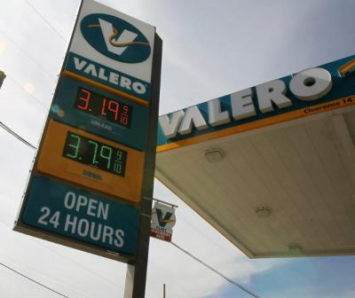 The Valero station at Speight and 12th streets, in Waco, Texas, shows an increased gas price. Gas prices have risen eight cents in Waco the past week, reflecting a national trend that likely will continue for months leading into the summer driving season. (Associated Press/Jerry Larson)