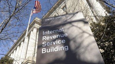 The exterior of the Internal Revenue Service building in Washington, D.C. (Susan Walsh/AP)