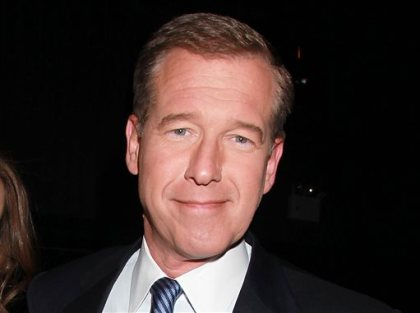 """This April 4, 2012 file photo shows NBC News' Brian Williams, at the premiere of the HBO original series """"Girls,"""" in New York. Williams is currently under suspension as """"Nightly News"""" anchor and managing editor for six months without pay for misleading the public about his experiences covering the Iraq War. Bill O'Reilly, Fox News Channel's prime-time star, is accused of claiming he had reported in a combat zone for CBS News during the 1982 Falklands War when he was more than a thousand miles from the front. (AP Photo/Starpix, Dave Allocca, File)"""