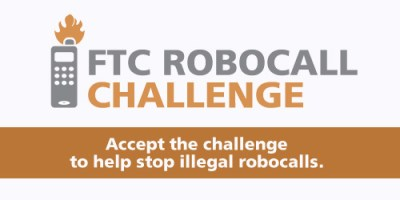 A poster for a challenge to block illegal robocalls (Courtesy Photo)