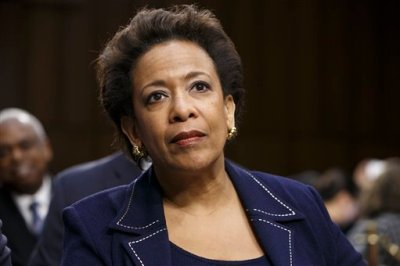 In this Jan. 28, 2015 file photo, Attorney general nominee Loretta Lynch appears on Capitol Hill in Washington. Senate Democrats pressed Republican leaders Thursday, March 5, to schedule a vote on the president's pick to be attorney general. President Barack Obama nominated Lynch in November. She now serves as U.S. attorney for the Eastern District of New York. (AP Photo/J. Scott Applewhite, File )