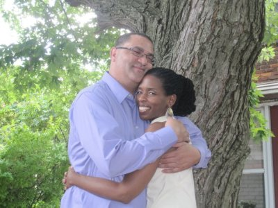 Lori Robinson and her husband,Ollie Johnson (Photo courtesy of Lori Robinson)