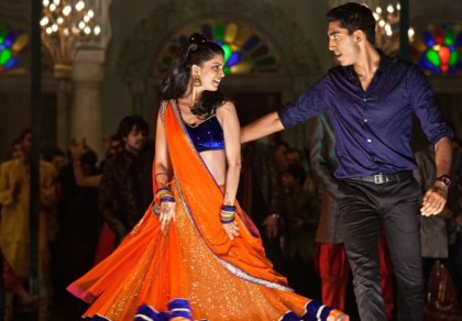 Tina Desai and Dev Patel in The Second Best Exotic Marigold Hotel (Courtesy Photo)