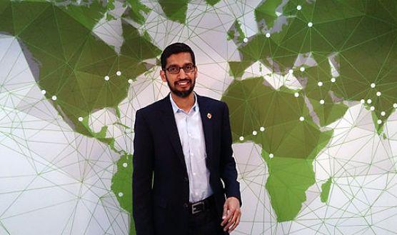 Sundar Pichai, Google's senior vice president of products, speaks at Mobile World Congress 2015. (Maurizio Pesce/CC BY 2.0)