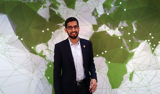 Sundar Pichai, Google's senior vice president of products, speaks at Mobile World Congress 2015. (Maurizio Pesce/CC BY 2.0)