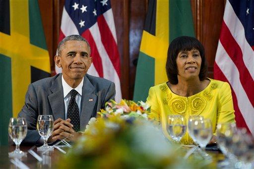 Barack Obama, Portia Simpson-Miller