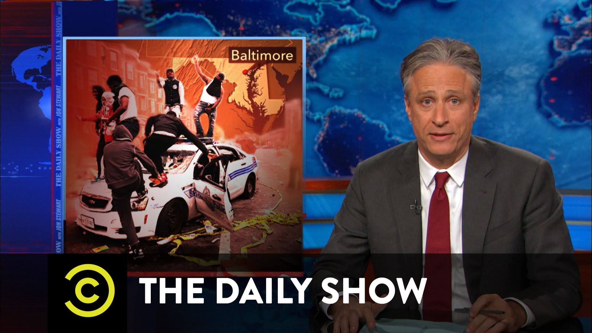 The Daily Show – Baltimore on Fire