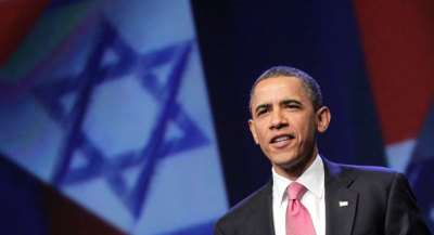 Barack Obama speaks at the American Israel Public Affairs Committee convention in May 2011 (AP Photo)