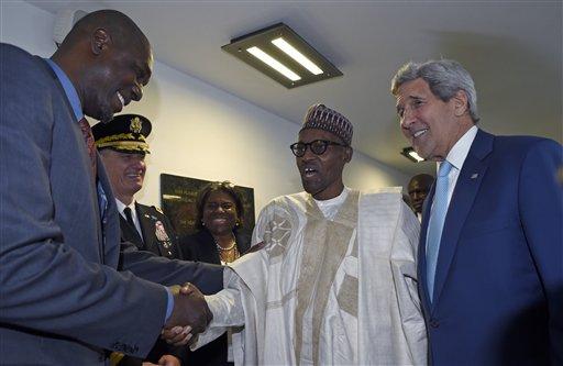 John Kerry, Muhammadu Buhari, Hakeem Olajuwon,