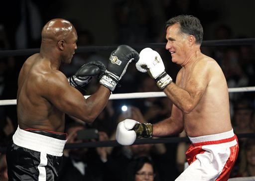 Mitt Romney, Evander Holyfield