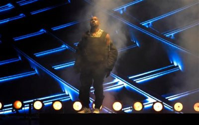 Kanye West performs at the Billboard Music Awards at the MGM Grand Garden Arena on Sunday, May 17, 2015, in Las Vegas. (Photo by Chris Pizzello/Invision/AP)