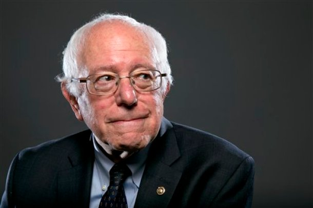In this photo taken May 20, 2015, Democratic Presidential candidate Sen. Bernie Sanders, I-Vt., poses for a portrait before an interview with The Associated Press in Washington. For Democrats who had hoped to lure Massachusetts Sen. Elizabeth Warren into a presidential campaign, independent Sen. Bernie Sanders might be the next best thing. Sanders, who is opening his official presidential campaign Tuesday in Burlington, Vermont, aims to ignite a grassroots fire among left-leaning Democrats wary of Hillary Rodham Clinton. He is laying out an agenda in step with the party's progressive wing and compatible with Warren's platform _ reining in Wall Street banks, tackling college debt and creating a government-financed infrastructure jobs program. (AP Photo/Jacquelyn Martin)