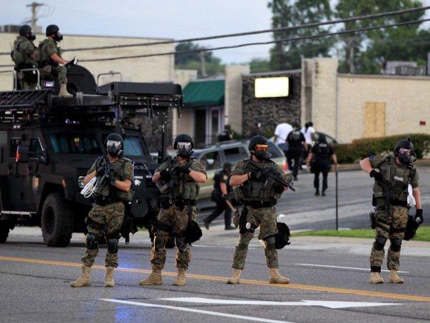 Police in Ferguson (Jeff Roberson/AP Photo)