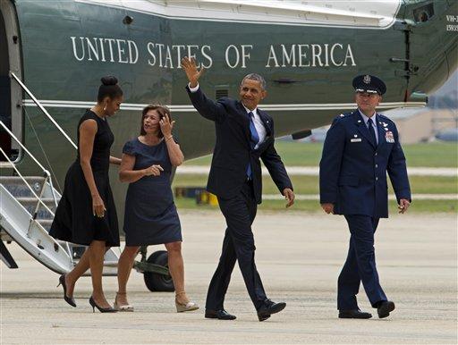 Barack Obama, Michelle Obama, John Millard, Jamie Millard