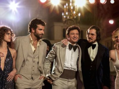"This film image released by Sony Pictures shows, from left, Amy Adams, Bradley Cooper, Jeremy Renner, Christian Bale and Jennifer Lawrence in a scene from ""American Hustle."" (Francois Duhamel/AP Photo)"