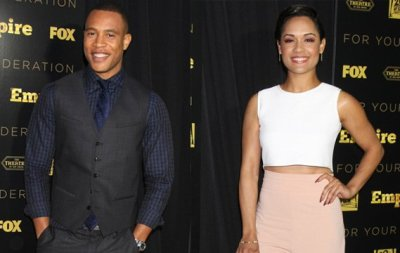 """""""Empire"""" stars Trai Byers and Grace Gealey are reportedly engaged after several months of dating."""