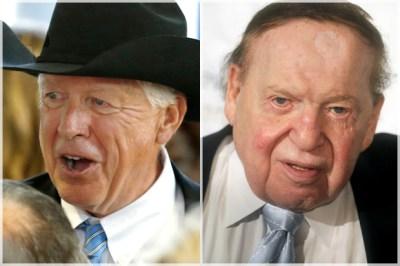 Foster Fries, Sheldon Adelson (Credit: AP/Dennis Van Tine/Keith Srakocic)