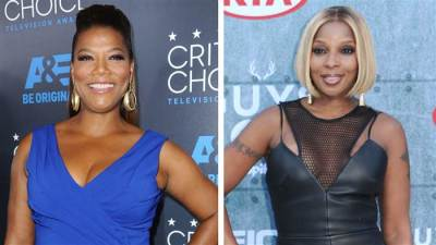 Queen Latifah and Mary J. Blige (AP Photo)