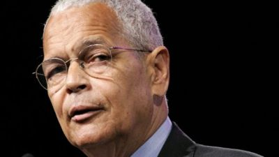 Julian Bond, chairman of the NAACP National Board of Directors, speaks during the 97th Annual Convention of the NAACP, Sunday, July 16, 2006, in Washington. (AP Photo/Haraz N. Ghanbari)
