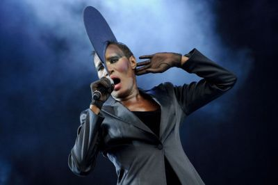 In a Sunday, July 3, 2011 file photo, Jamaican singer, Grace Jones performs at the Wireless Festival at Hyde Park, in London. (Jonathan Short/Invision/AP)
