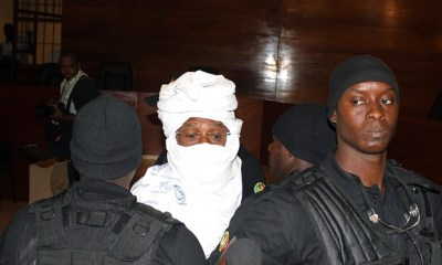 Hissène Habré pictured in court in Dakar on July 20, 2015. (Ibrahima Ndiaye/AP Photo)