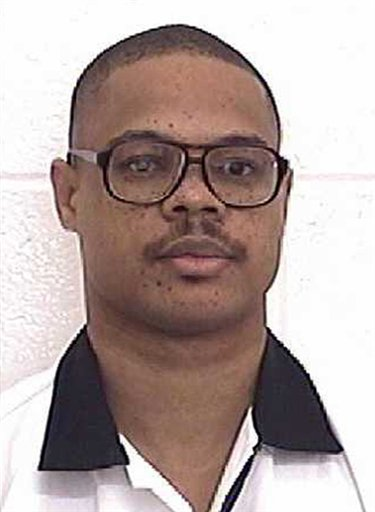This image provided by the Georgia Department of Corrections shows Kenneth Fults, who is on death row in Georgia. Fults is asking the Supreme Court for a new sentencing hearing because a white juror who voted for the death penalty later referred to him with a racial slur. Fults was sentenced to death for the 1996 killing of Cathy Bounds, who was shot five times in the back of her head. Fults has been trying for 10 years to get a court to consider evidence that racial bias deprived him of a fair trial. (Georgia Department of Corrections via AP)