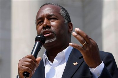 In this Aug. 27, 2015 file photo, Republican presidential candidate Ben Carson speaks  in Little Rock, Ark. August is typically one of the worst fundraising months for any politician. But it was Ben Carson's best yet. The political novice, a retired neurosurgeon seeking the 2016 Republican presidential nomination, raised $6 million, doubling his July total, his campaign told the Associated Press on Tuesday. (AP Photo/Danny Johnston, File)
