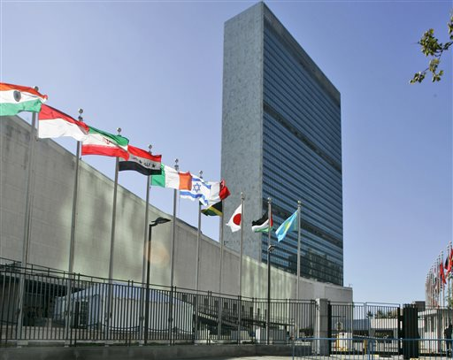United Nations Palestinians Flag