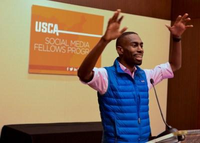 Activist DeRay McKesson links Blacks Lives Matter Movement and fighting HIV/AIDS. (NNPA Photo by Freddie Allen)