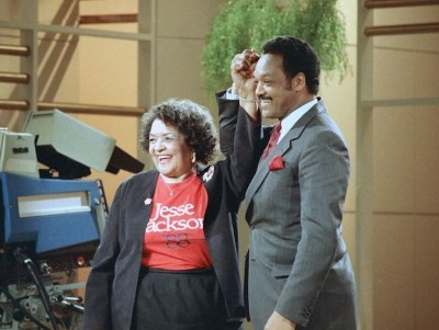 Rev. Jesse Jackson (right) and his mother Helen Burns Jackson (AP Photo)