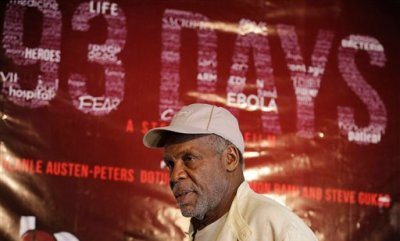 "U.S actor Danny Glover arrives for a news conference for the film ""93 Days"" in Lagos, Nigeria Thursday, Sept. 10, 2015. Glover is in Nigeria to star in a movie based on people who risked and sacrificed their lives to stop the spread of Ebola in Africa's most populous country. (AP Photo/Sunday Alamba)"