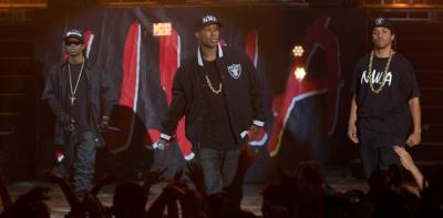 """A still from the hit film """"Straight Outta Compton,"""" which topped the U.S. box office for a third consecutive week at the end of August. (Jaimie Trueblood/Universal Pictures)"""