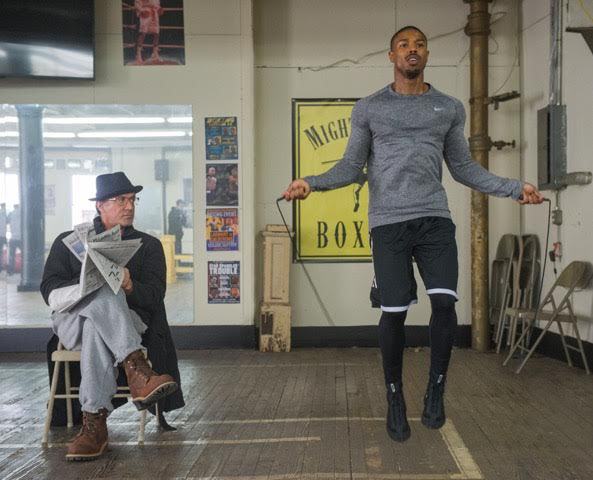 """Sylvester Stallone (left) and Michael B. Jordan star in """"Creed."""" (Courtesy Photo/Warner Bros.)"""