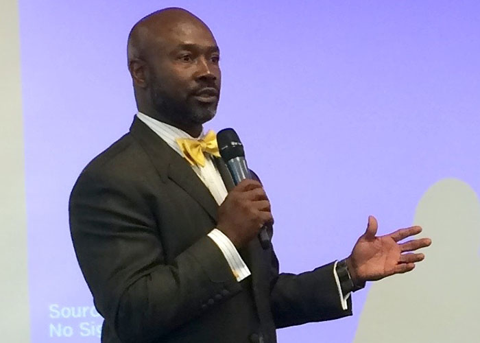 Bishop Calvin Scott talks about climate change in the Black community at an event co-sponsored by the Heartland Black Chamber of Commerce. (Heartland Black Chamber of Commerce)