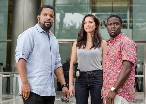 "From left to right: Ice Cube, Olivia Munn and Kevin Hart star in ""Ride Along 2."" (Universal Pictures)"