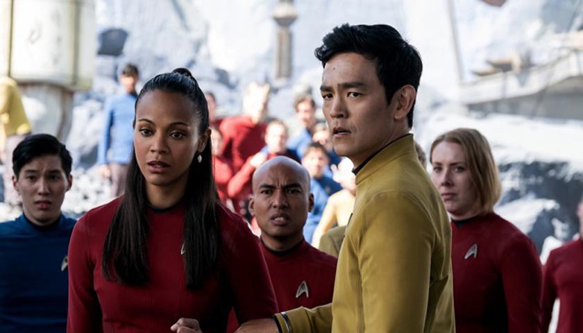 Zoe Saldana (left) and John Cho star in Star Trek Beyond. (Paramount Pictures)