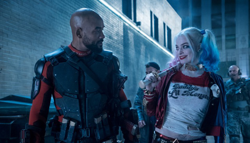 """Will Smith (left) and Margot Robbie star in """"Suicide Squad."""" (Lionsgate Films)"""