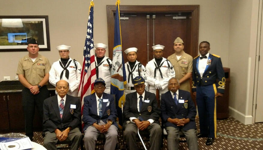 Photo of active and retired U.S. servicemen. (Town of Chapel Hill)