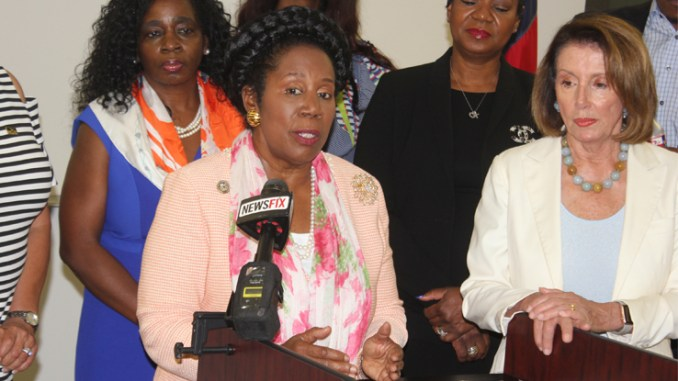 ABOVE: Congresswoman Sheila Jackson Lee and House Democratic Leader Nancy Pelosi
