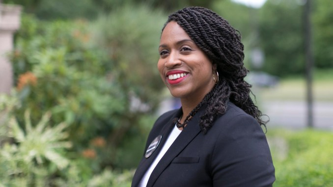 Ayanna Pressley is an advocate, a policy-maker, an activist, and survivor. Her election to the Boston City Council in 2009 marked the first time a woman of color was elected to the Council in its 100-year history. (Photo: ayannapressley.com)