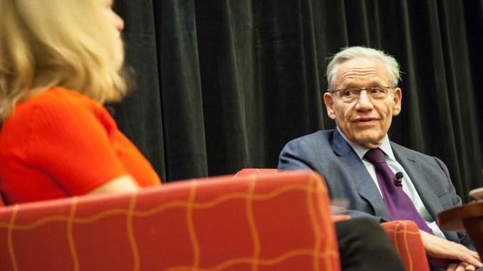 Edward R. Murrow Program participants meet with Bob Woodward, 26 October 2015 (source: Wikimedia Commons)