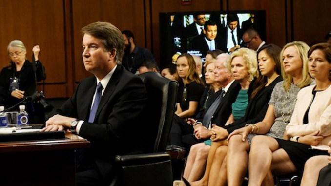 Judge Brett Kavanaugh speaks to members of Congress.