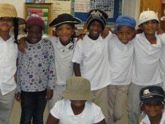 Students of Mary E. Rodman Elementary school, where test scores are making prodigious progress.