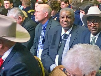 BFAA President Thomas Burrell and COGIC Bishop David A. Hall Sr. were on a mission at the American Farm Bureau Federation's Convention in Nashville. (Photo: Patricia Rogers)