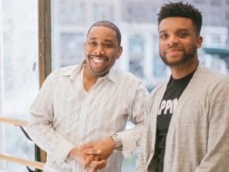 Brian Moreland, producer, Thoughts of a Colored Man and playwright, Keenan Scott II.