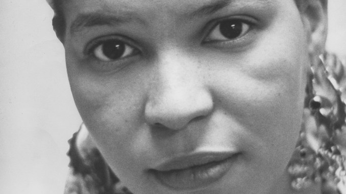Ntozake Shange, Barnard College, Reid Lecture, Women Issues Luncheon, Women's Center, November 1978 (Photo: Barnard College Archives / Wikimedia Commons)